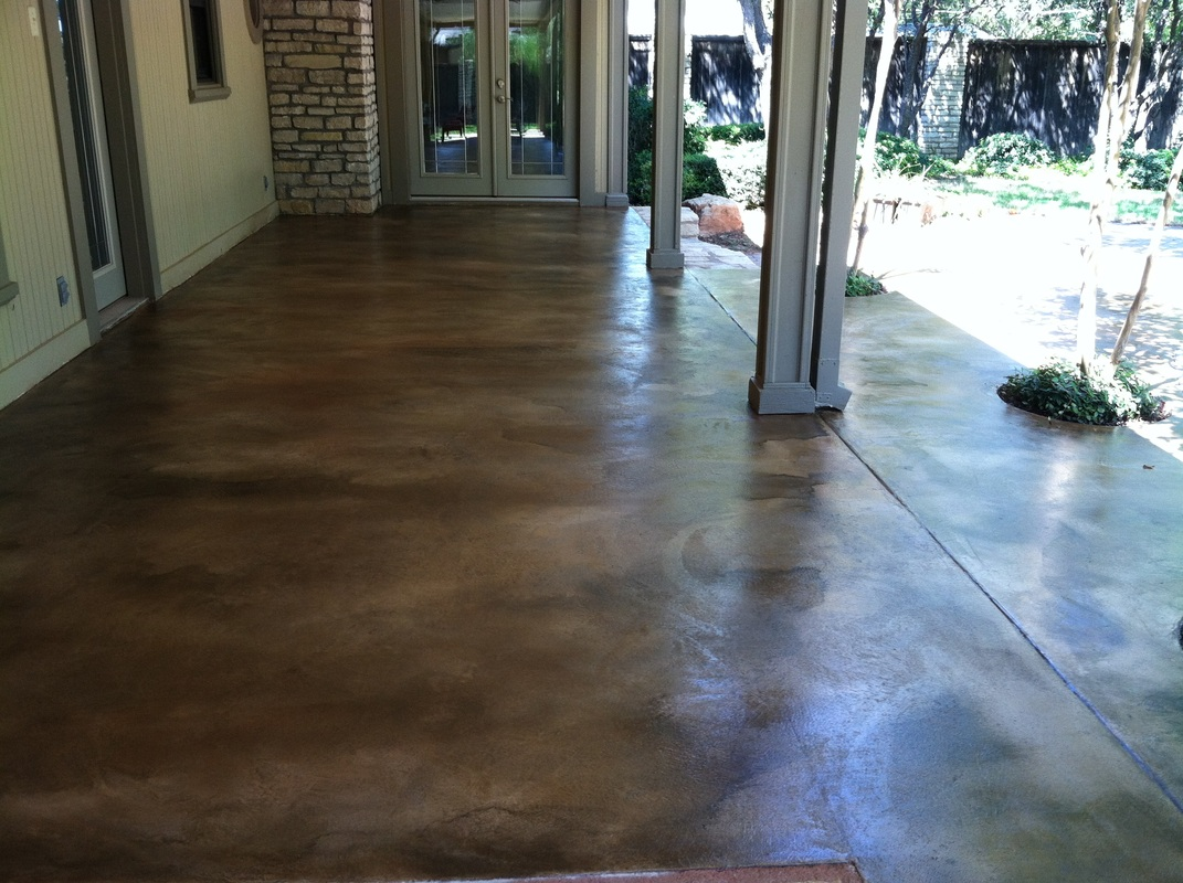 Eco friendly concrete staining solid impressions for How to clean outdoor stained concrete